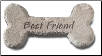 Garden Accent Rock Bone - 'Best Friend'