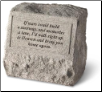 Garden Accent Headstone/Urn with Poem - 'If Tears Could . . . . .'