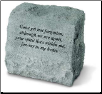 Garden Accent Headstone/Urn with Poem - 'Gone Yet Not . . . . . . . . '