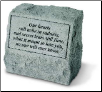 Garden Accent Headstone/Urn with Poem - 'Our Hearts Still . . . . . . . .'