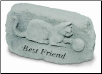 Garden Accent Rock - 'Best Friend' with Cat
