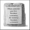 "Stone Memorial Candle - ""When someone you love becomes a memory..."" - single light, short base"
