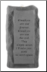"Stone Memorial Candle - ""Goodbyes are not forever..."" - single light, tall base"
