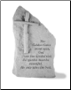 "Garden Pet Memorial Stone - ""The golden gate stood open..."" - by Kay Berry"