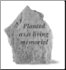Garden Accent Rock - 'Planted as a living memorial' Tree Memorial