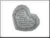 "Heartful Thoughts Memorial Stone - ""Gone Yet Not Forgotten . . . . ."""