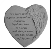 "Angel Winged Heart Memorial Stone - ""You Were Such A Great . . . . ."""