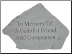 In Memory - Garden Memorial Stone by Kay Berry
