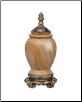 Marble & Satin Flemish Teakwood Pet Urn