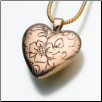 Bronze or White Bronze Floral Heart Keepsake Pendant