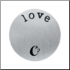 Plates - Large Silver - Love