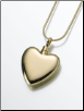 Gold Vermeil Heart Keepsake Urn Pendant - Small