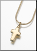 Small Gold Vermeil, Sterling Silver, 14K White or 14K Yellow Gold Cross Keepsake Pendant