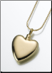 Large Gold Vermeil or Sterling Silver Heart Keepsake Pendant
