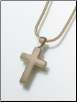 Brass Cross Keepsake Pendant