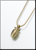 Small Brass, Sterling Silver, 14K White or 14K Yellow Gold Urn Keepsake Pendant