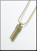 Brass, Sterling Silver, 14K White or 14K Yellow Gold Cylinder Keepsake Pendant