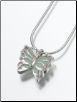 Sterling Silver Butterfly with Enameled Wings Keepsake Pendant