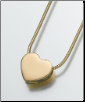 Small Gold Vermeil, Sterling Silver, 14K White or 14K Yellow Gold Slide Heart Keepsake Pendant