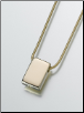 Gold Vermeil, Sterling Silver, 14K White or 14K Yellow Gold Slide Rectangle Keepsake Pendant