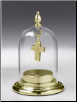 Gold Luster or Pewter Glass Dome w/Fillable Base by Madelyn Company