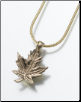Brass, Sterling Silver or Gold Vermeil Maple Leaf Keepsake Pendant