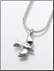 Sterling Silver, Gold Vermeil, 14K White or Yellow Gold Dove Keepsake Pendant Urn