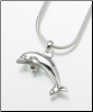Sterling Silver, Gold Vermeil, 14K White or Yellow Gold Dolphin Keepsake Pendant Urn