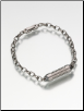 19 Link, Narrow or Wide Titanium Rollo Link Bracelet by Madelyn Company