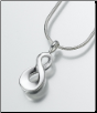 Sterling Silver, Gold Vermeil, 14K White or Yellow Gold Infinity Keepsake Pendant