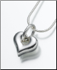 Sterling Silver, Gold Vermeil, 14K White or Yellow Gold Puff Heart w/Loop Keepsake Pendant
