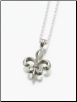 Sterling Silver, Gold Vermeil, 14K White or Yellow Gold Fleur de Lis Keepsake Pendant