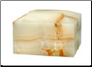 Rectangular Light Green Onyx Marble Urn