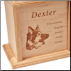 Solid Oak Wooden Photo Pet Urn