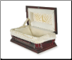 Paws Rest Cherry Wood Pet Casket