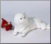Lifesize White Persian Cat Figurine Urn