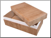 Handmade Paper Biodegradable Pet Caskets - Wood Pattern