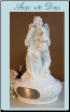 A Porcelain Angel with Dog Urn