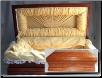 Royal Wood Casket: 18 inch