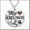 Heart Necklace - My Heart Belongs to my Dog