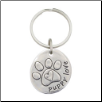 Puppy Love - Pewter Keychain