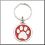 Red I Love My Dog - Pewter Keychain