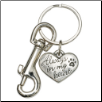Always in My Heart - Pewter Heart Keychain