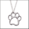 Paw Cut Out - Sterling Silver Necklace