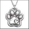 Paw with Heart - Sterling Silver Necklace