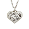 Always in My Heart - Pewter Heart Memorial Necklace