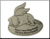 Pet Memorial Garden Stone - Dogs Leave Pawprints On Your Heart Forever