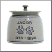 Personalized Pottery Paw Print Pet Urn