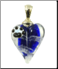 Hand Blown Glass Heart Pendant Urn
