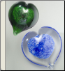 Hand Blown Glass Heart Keepsake Urn & Memorial
